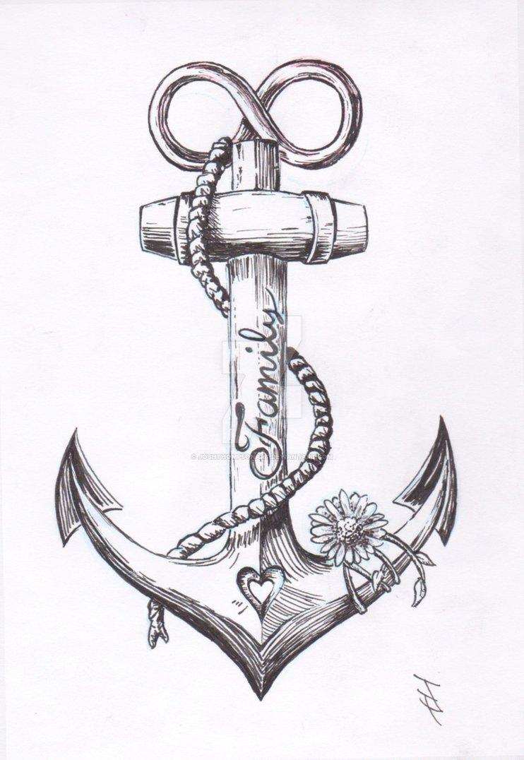 Drawn anchor unique @DeviantArt Anchor com Tattoo Anchor