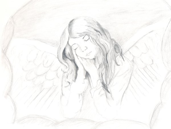 Drawn angel Angel by drawn drawn highschool