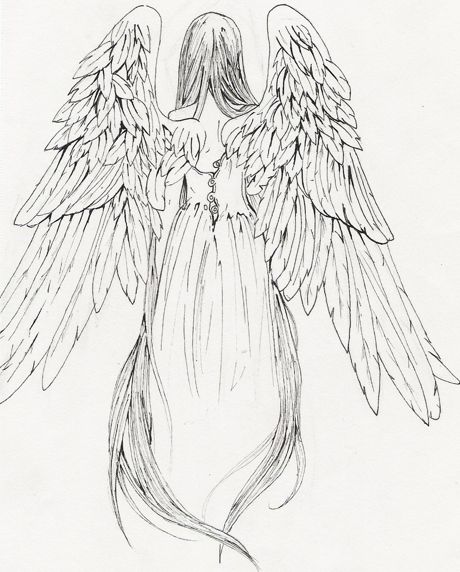 Drawn angel Tattoos com on tattoo tattoo
