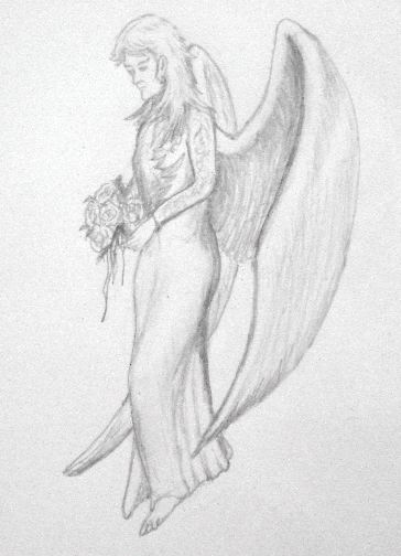 Drawn angel Pencil Drawings of Angels
