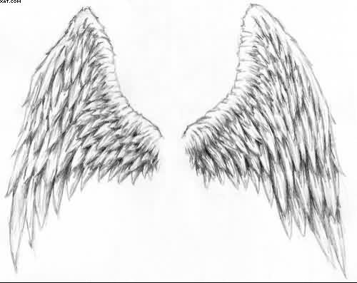 Drawn angel angel wing Things Drawings: Pencil In Drawings