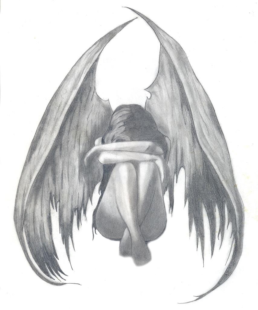 Drawn sad angel Drawing Angel and angel stuff