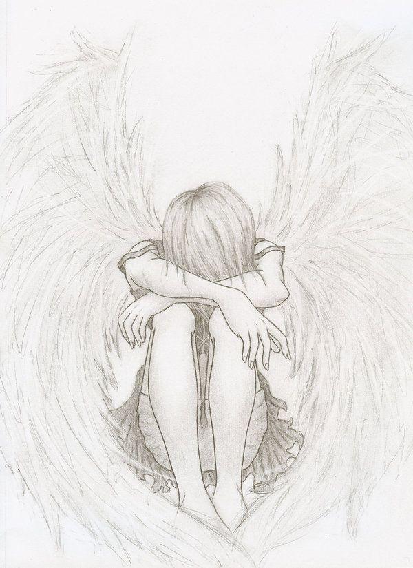 Drawn sad angel Angel Angel 20+ Best on