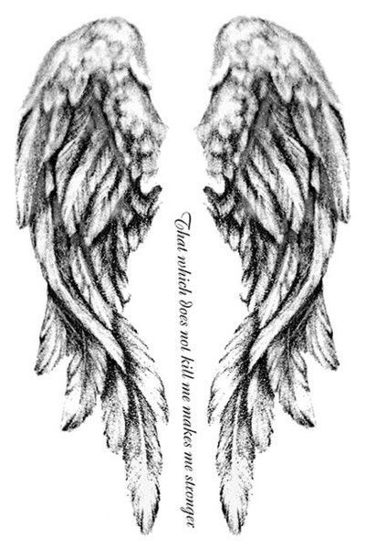Drawn angel back Different like wings wings 20+