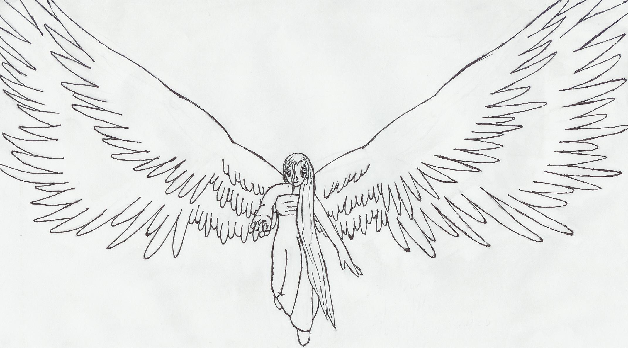 Drawn angel big wing By Big potatorush18 on DeviantArt