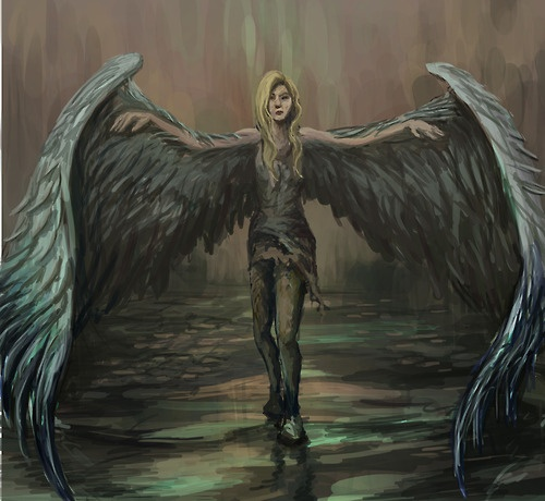 Drawn angel big wing Wings Of  drawing ideas