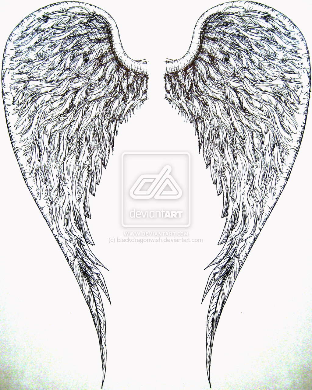 Drawn angel big wing Wings For  Tattoos For