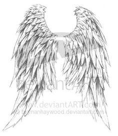Drawn angel big wing Angel Tattoos wings drawing Tattoos&Piercings
