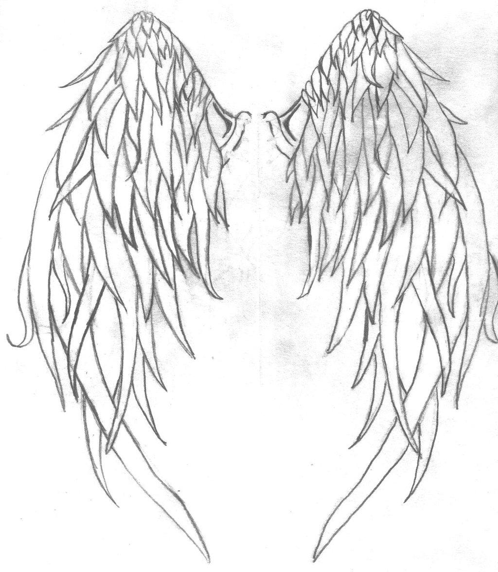 Drawn angel big wing Tattoo Design Design Tattoo Ideas
