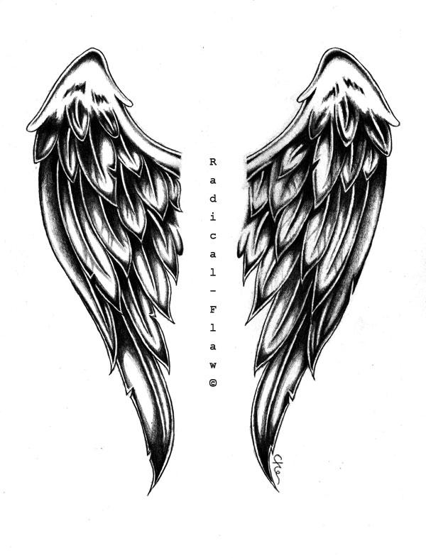 Drawn angel big wing Angel Wings Wings by RadicalFlaw