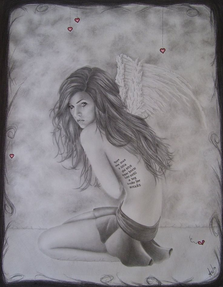 Drawn angel broke Broken images Pinterest Angel on