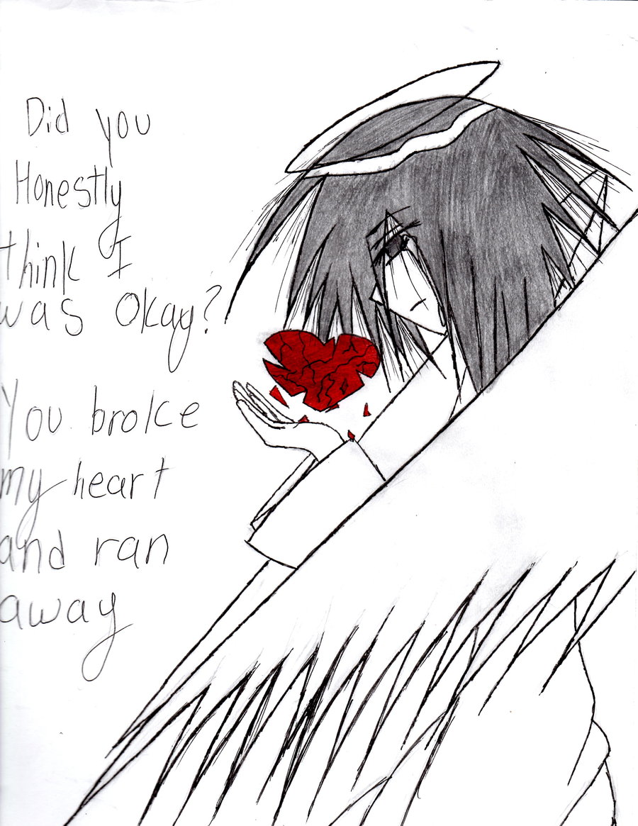 Drawn angel broke Angel's by Heart Angel's emobuunygirl