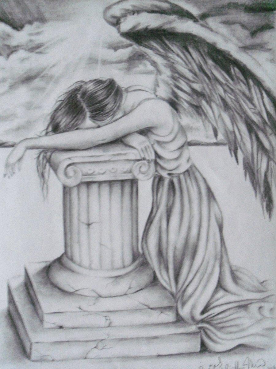 Drawn angel broken angel Drawings Broken  brittmarcil Wings