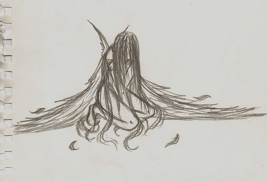 Drawn angel broken angel NannaDoodles Broken NannaDoodles Broken by