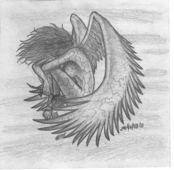 Drawn angel broken angel Jesikakeo broken jesikakeo broken by