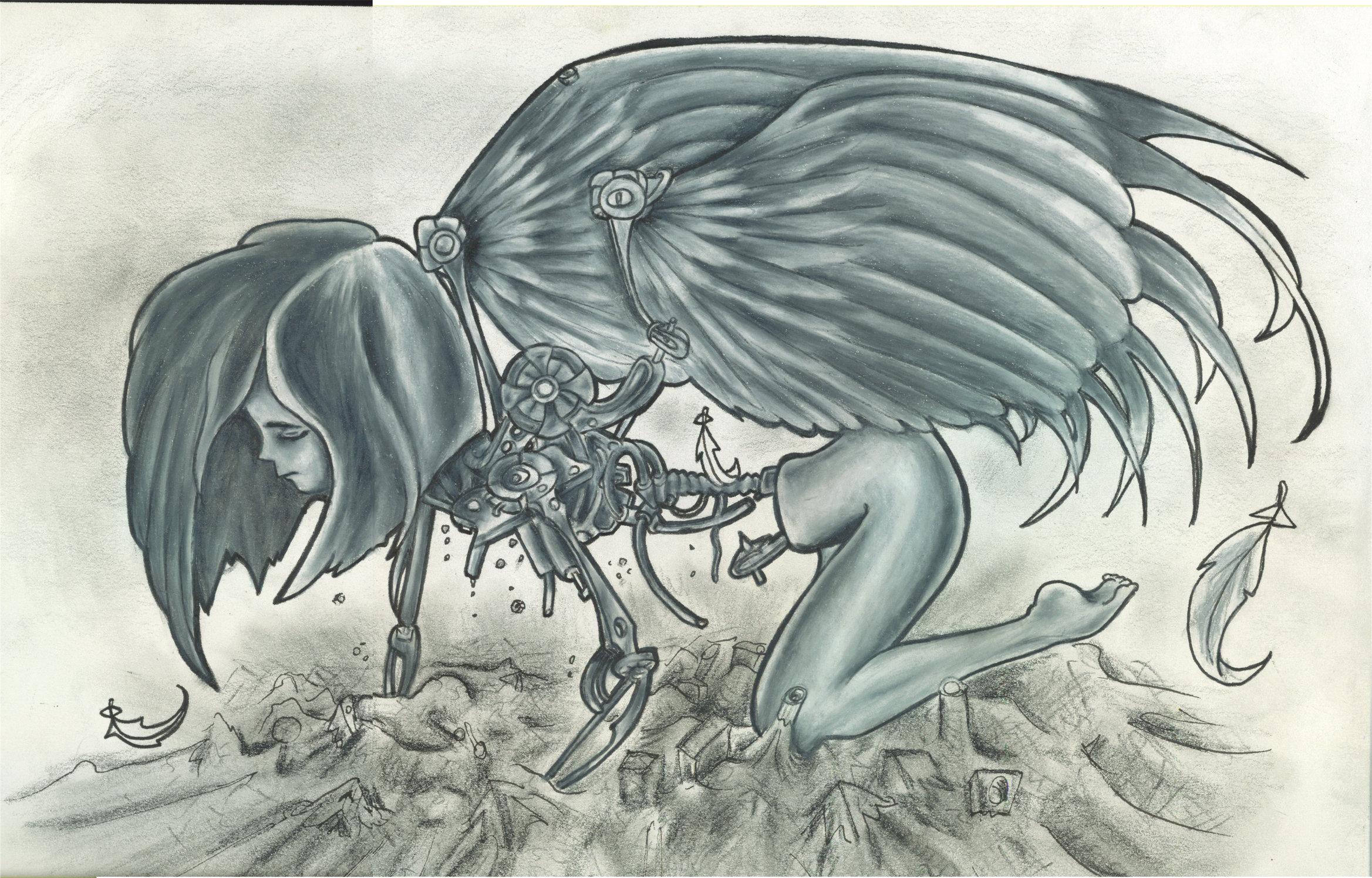 Drawn angel broken angel Father broken angel of broken