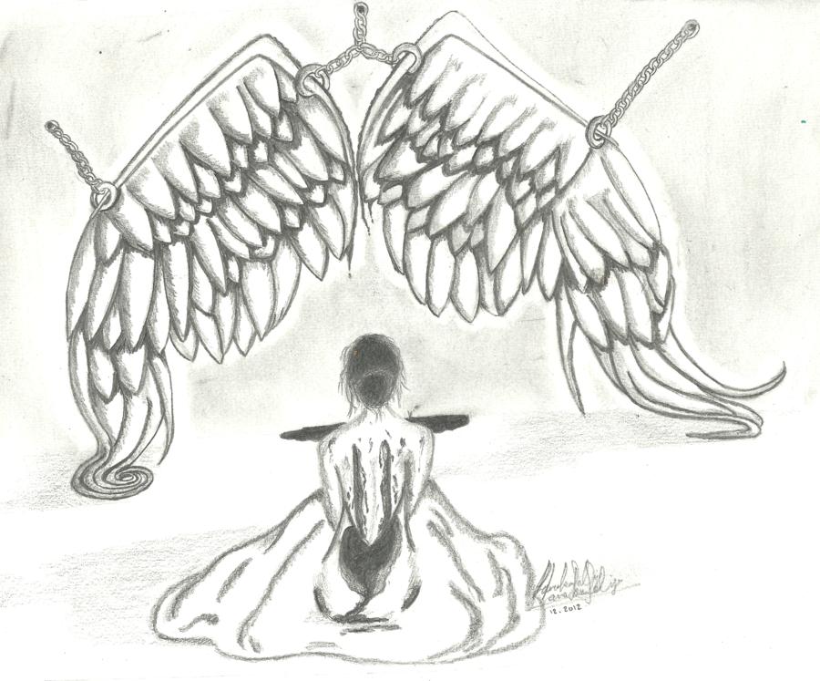 Drawn angel broken angel Lana89k Broken Lana89k Broken by