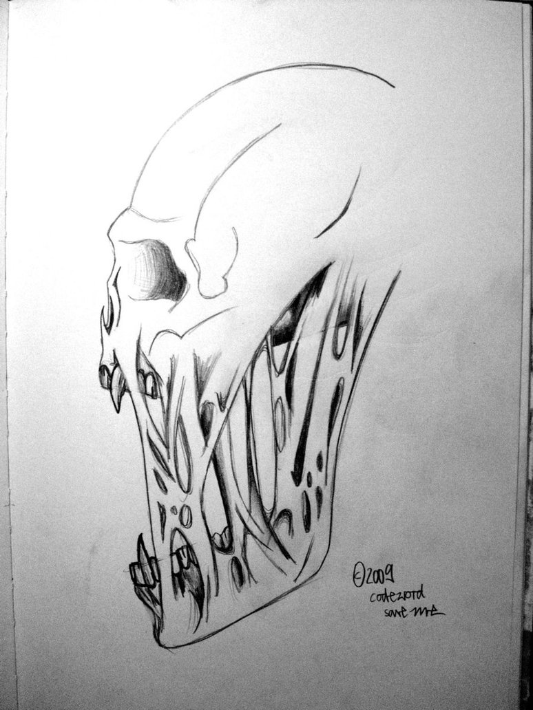 Drawn skull vector Dibujo by Buscar rabatzkatz alas
