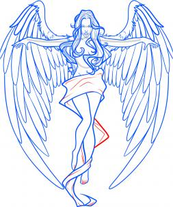 Drawn angel cross An Angel step How Draw