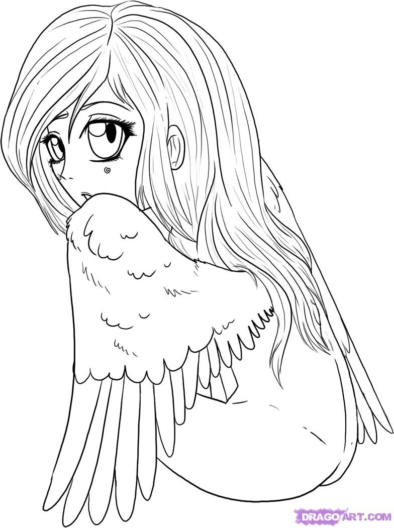 Drawn angel easy Draw Angel a Step Anime