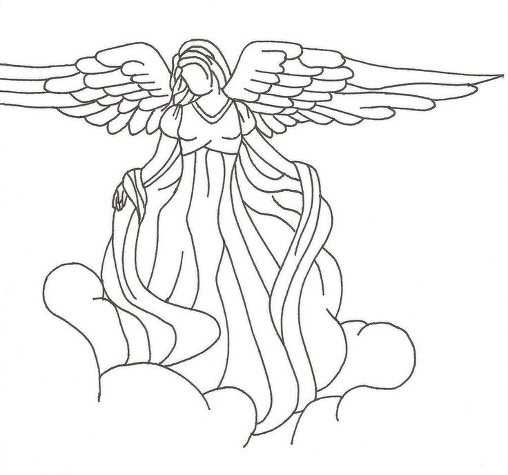 Drawn angel easy Pin on drawings 39 drawings
