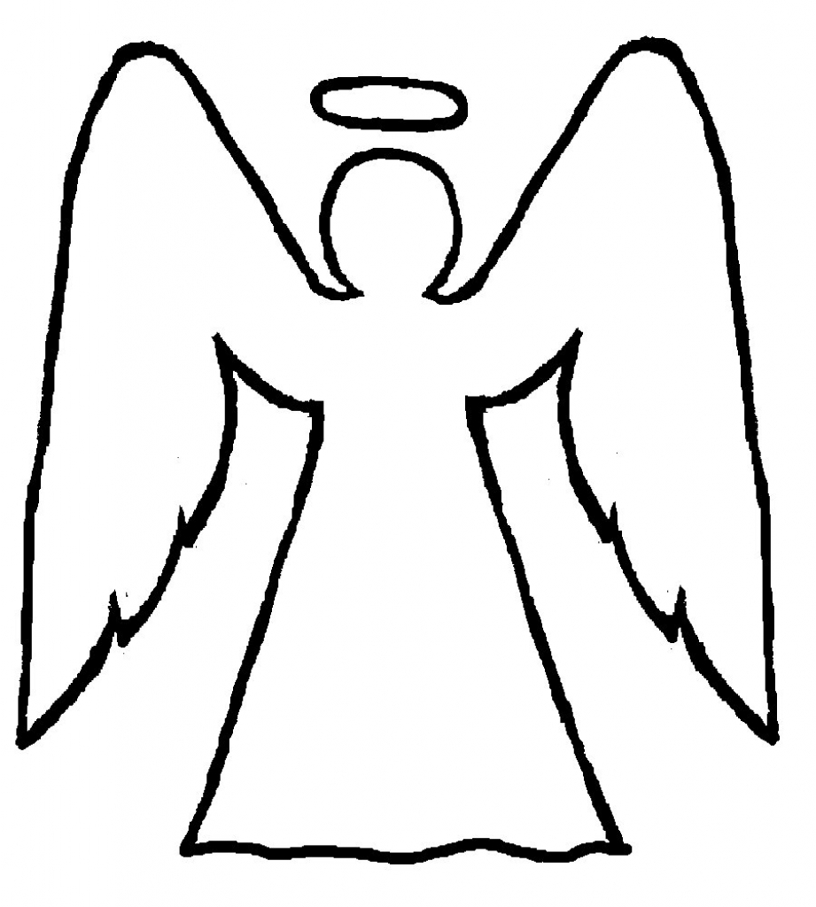 Drawn angel easy Angel Easy Clipart Drawing Angels