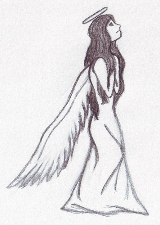 Drawn angel easy Drawing Drawings by drawing My