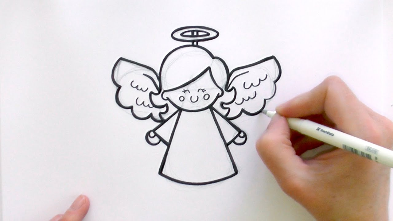 Drawn angel easy To YouTube Angel Cartoon a
