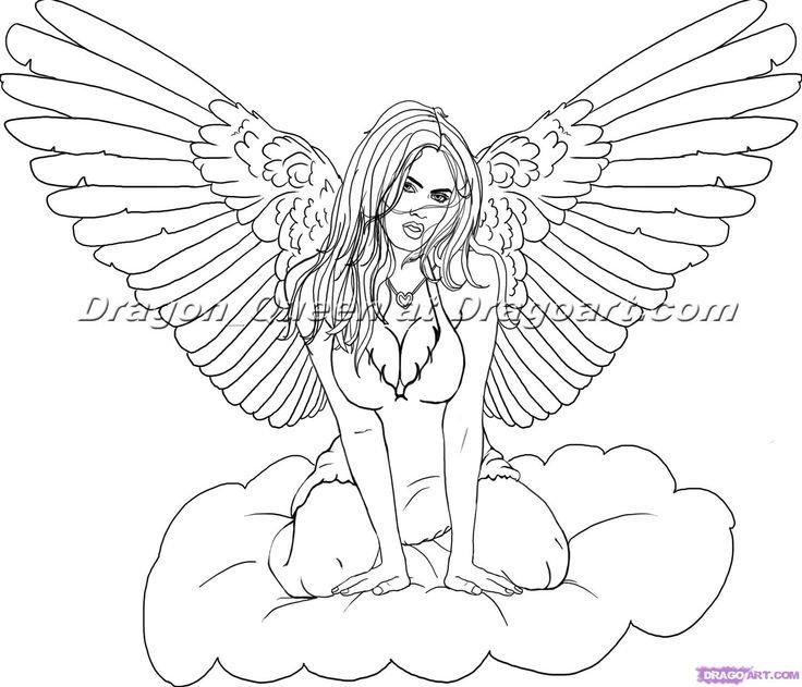 Drawn angel easy draw #14