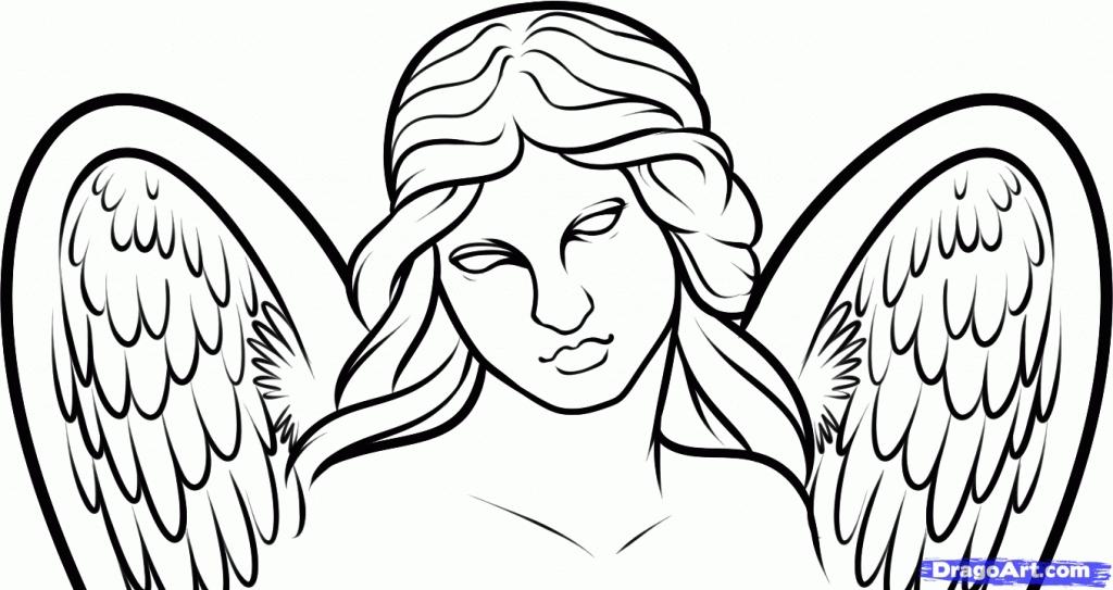 Drawn angel easy draw #1