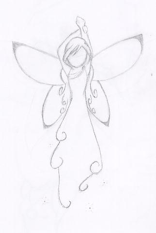 Drawn angel easy draw #8