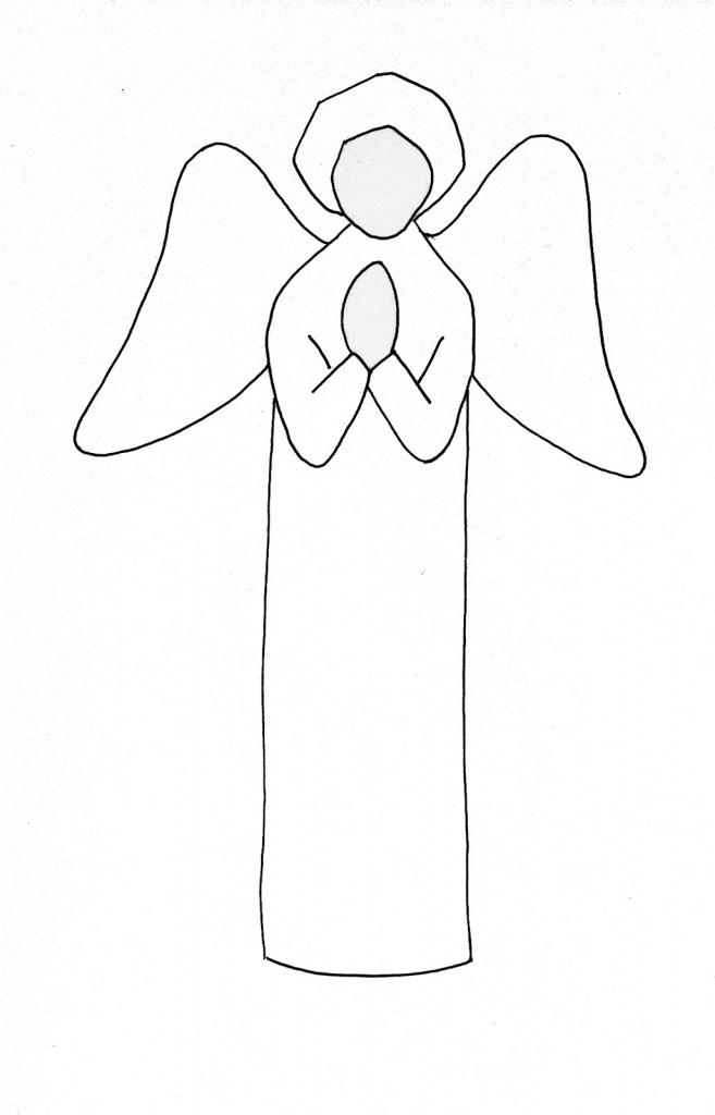Drawn angel easy draw #4