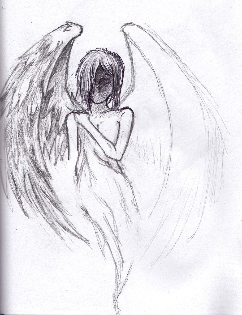 Drawn angel easy draw #11