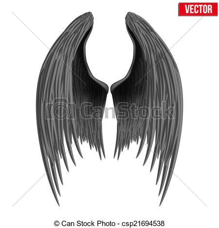 Drawn angel folded wing Folded of csp21694538 wings folded