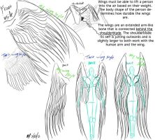 Drawn angel folded wing Angel of EmbraceDarkshade reference and