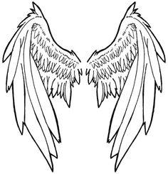 Drawn angel folded wing Angel Designs tattoos angel tattoo