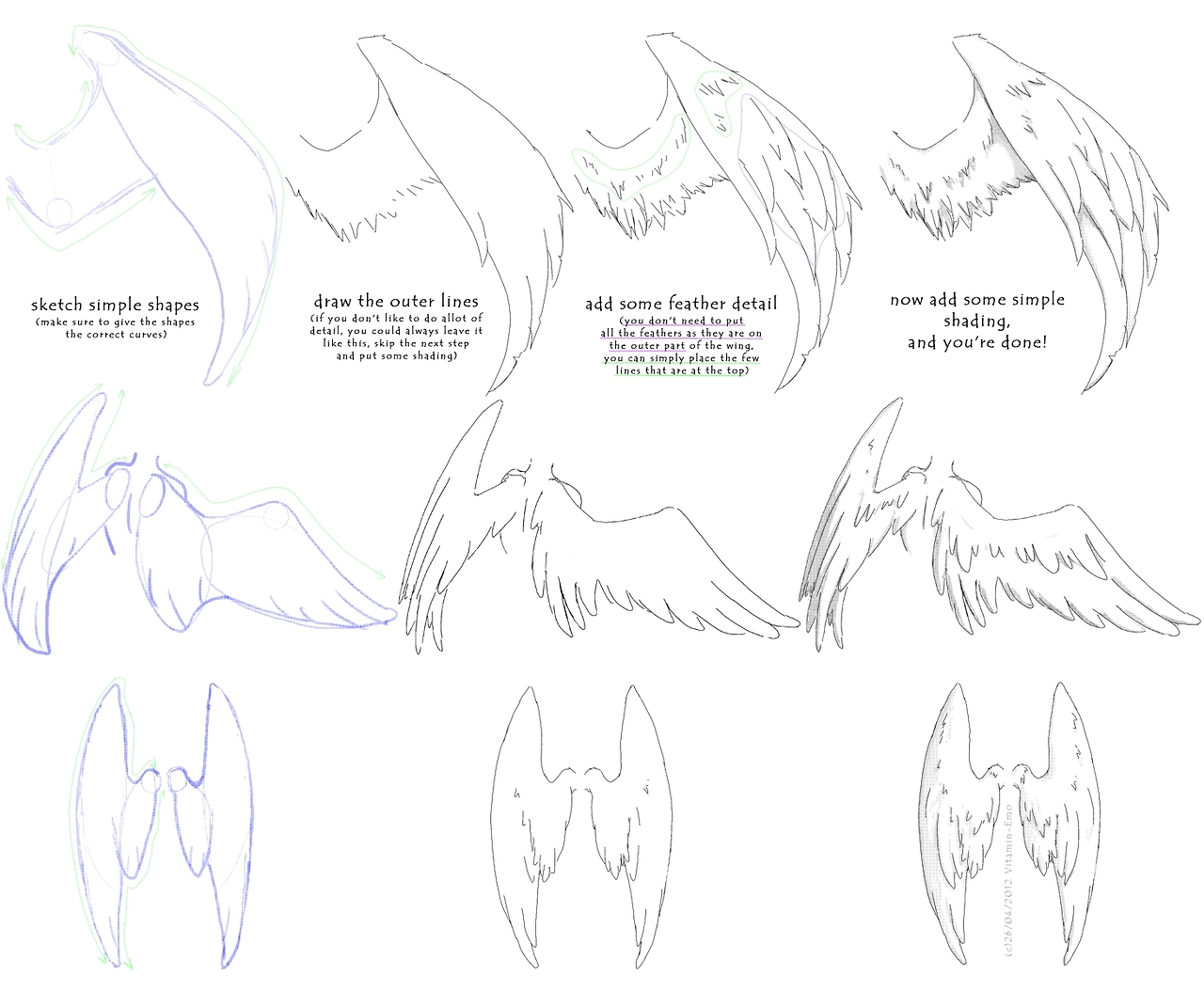 Drawn angel folded wing Wings helpyoudraw:How To Draw wings