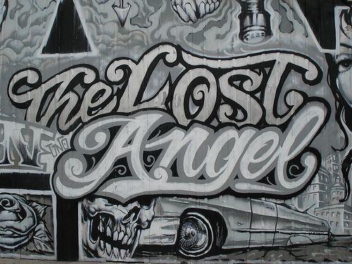 Drawn graffiti angel #9