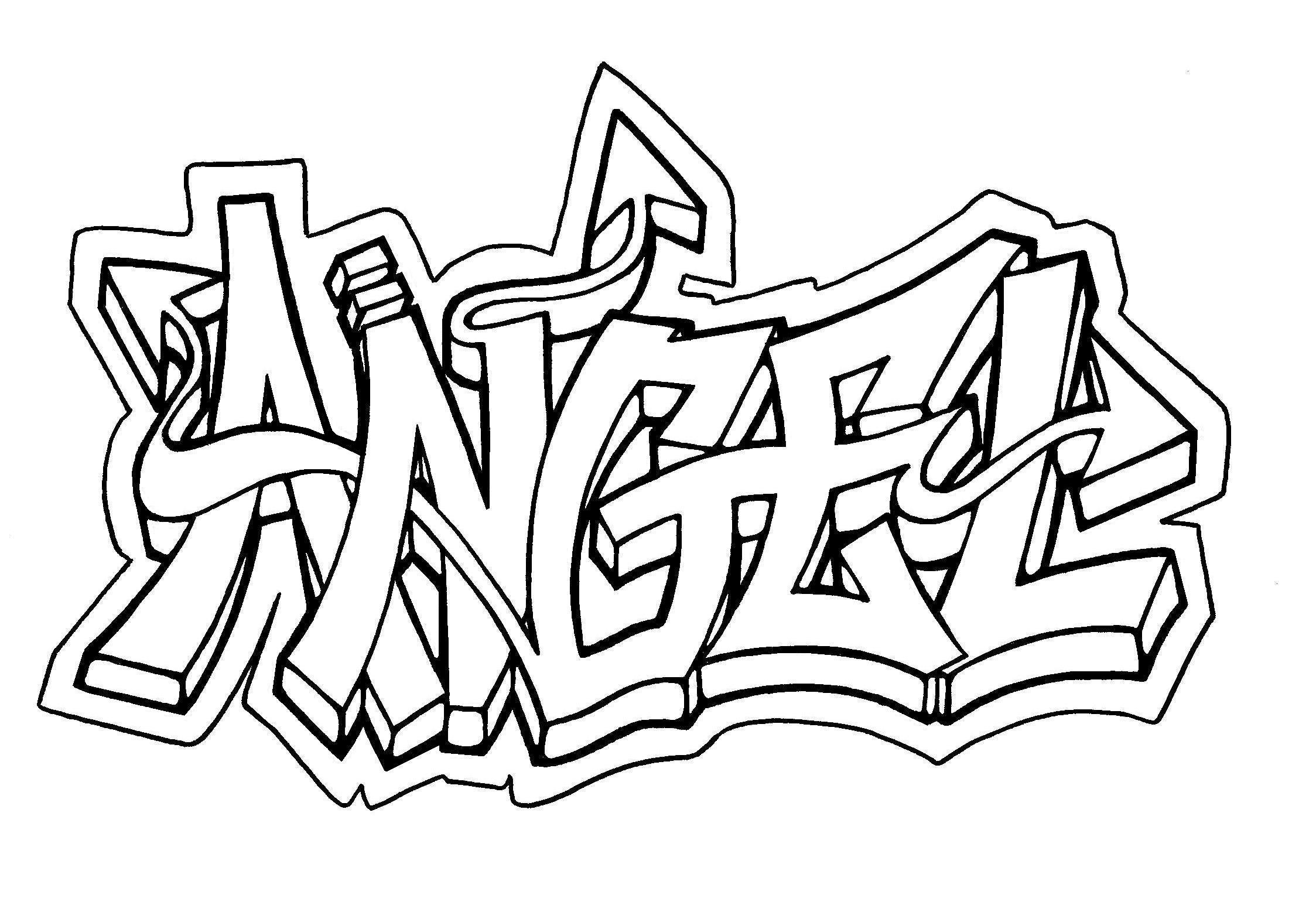 Drawn graffiti spirit #10