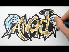 Drawn graffiti angel #11