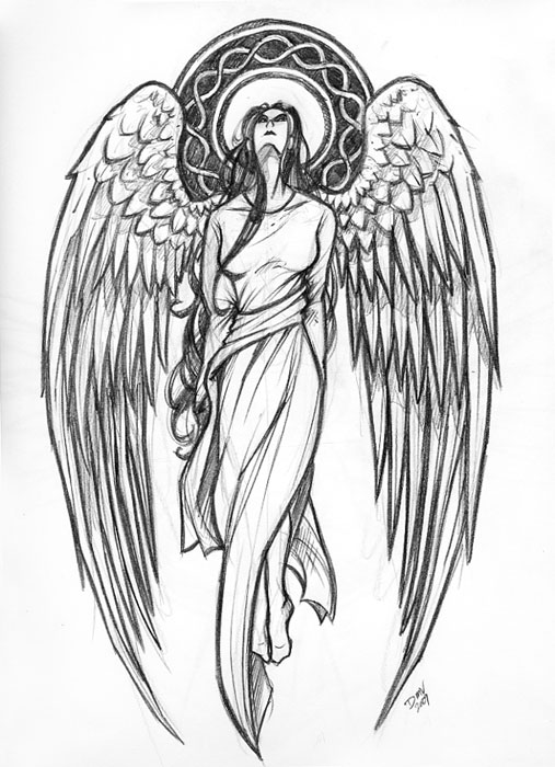 Drawn angel guardian angel Tattoo tattoo Love Pinterest angel