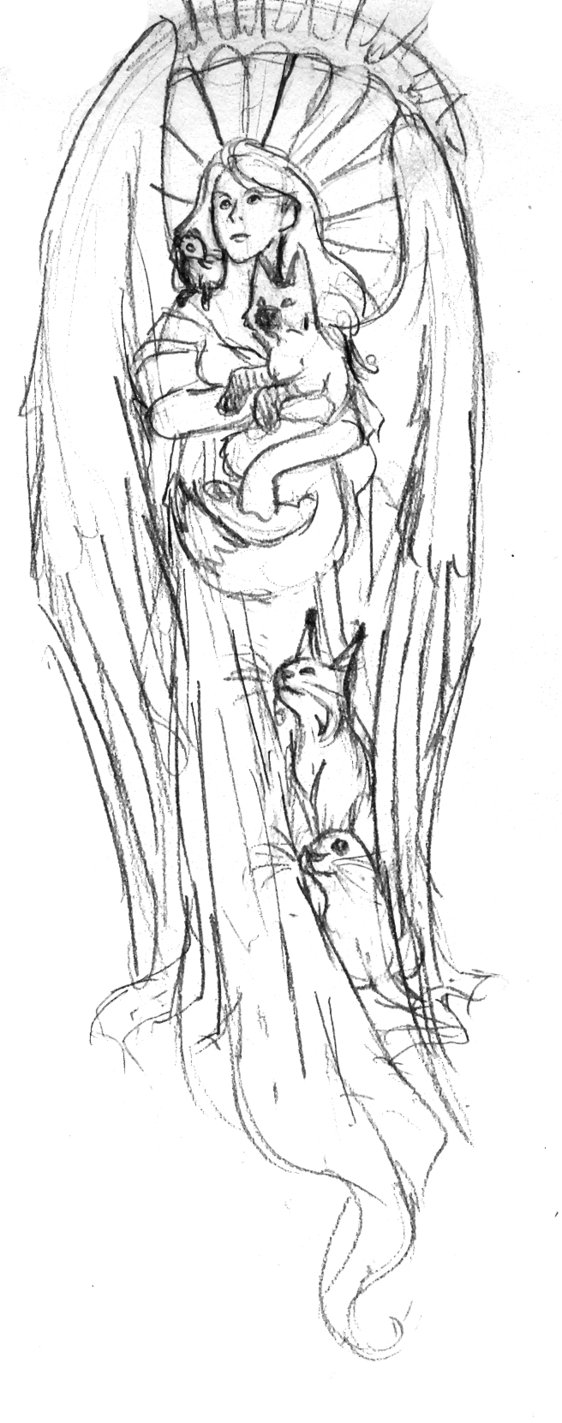 Drawn angel guardian angel Gallery angel Animal guardian sketch