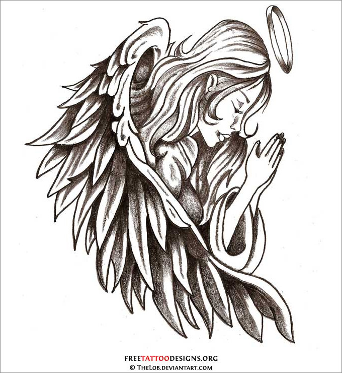 Drawn angel guardian angel Templates Free Drawings Drawings Download