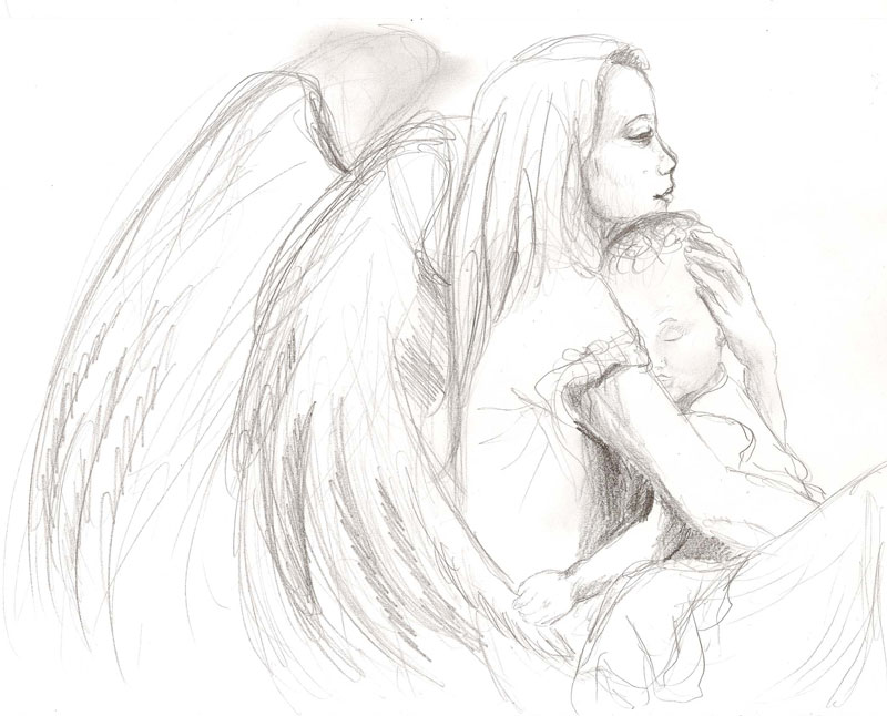 Drawn angel guardian angel #12