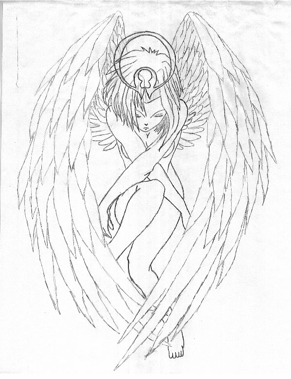 Drawn angel guardian angel Angel guardian by rhsguy411 rhsguy411