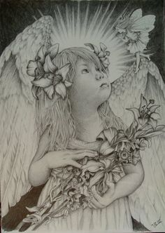 Drawn angel guardian angel Tim Childa  by on