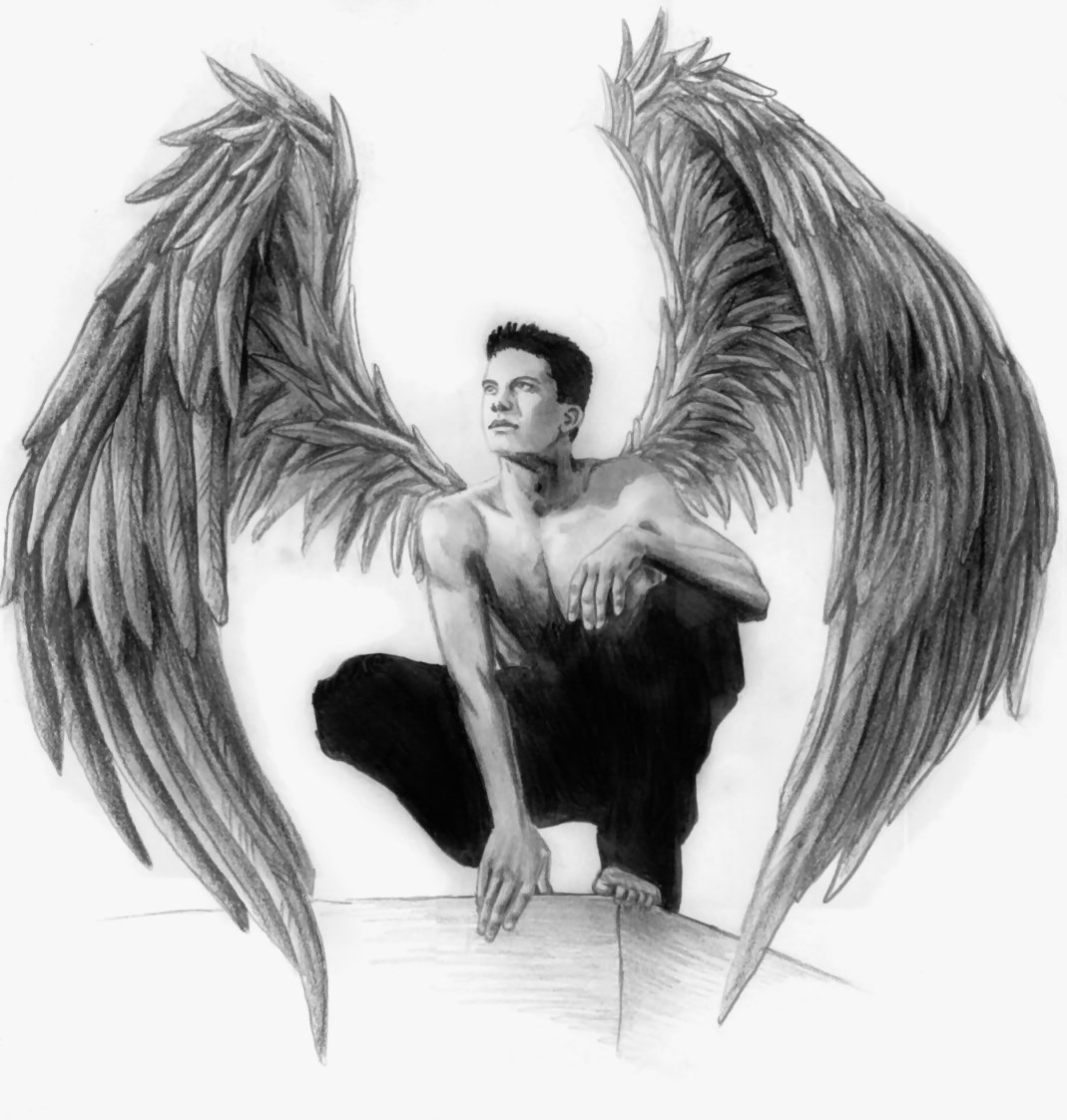 Drawn angel guy Pinterest Crying Drawing Crying Male