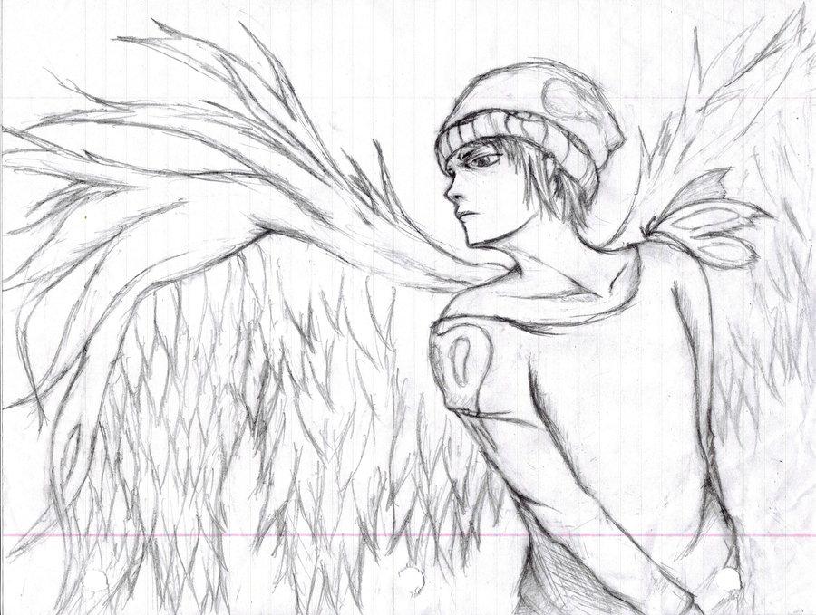 Drawn angel guy Sketch by sketch insignificantDigit by