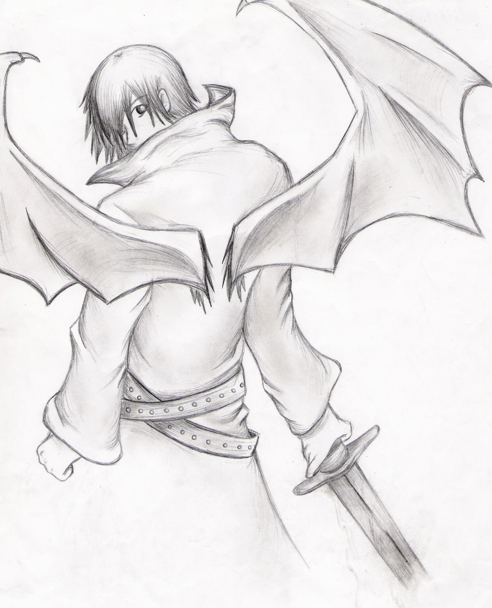 Drawn angel guy Xnivalisx by xnivalisx by on