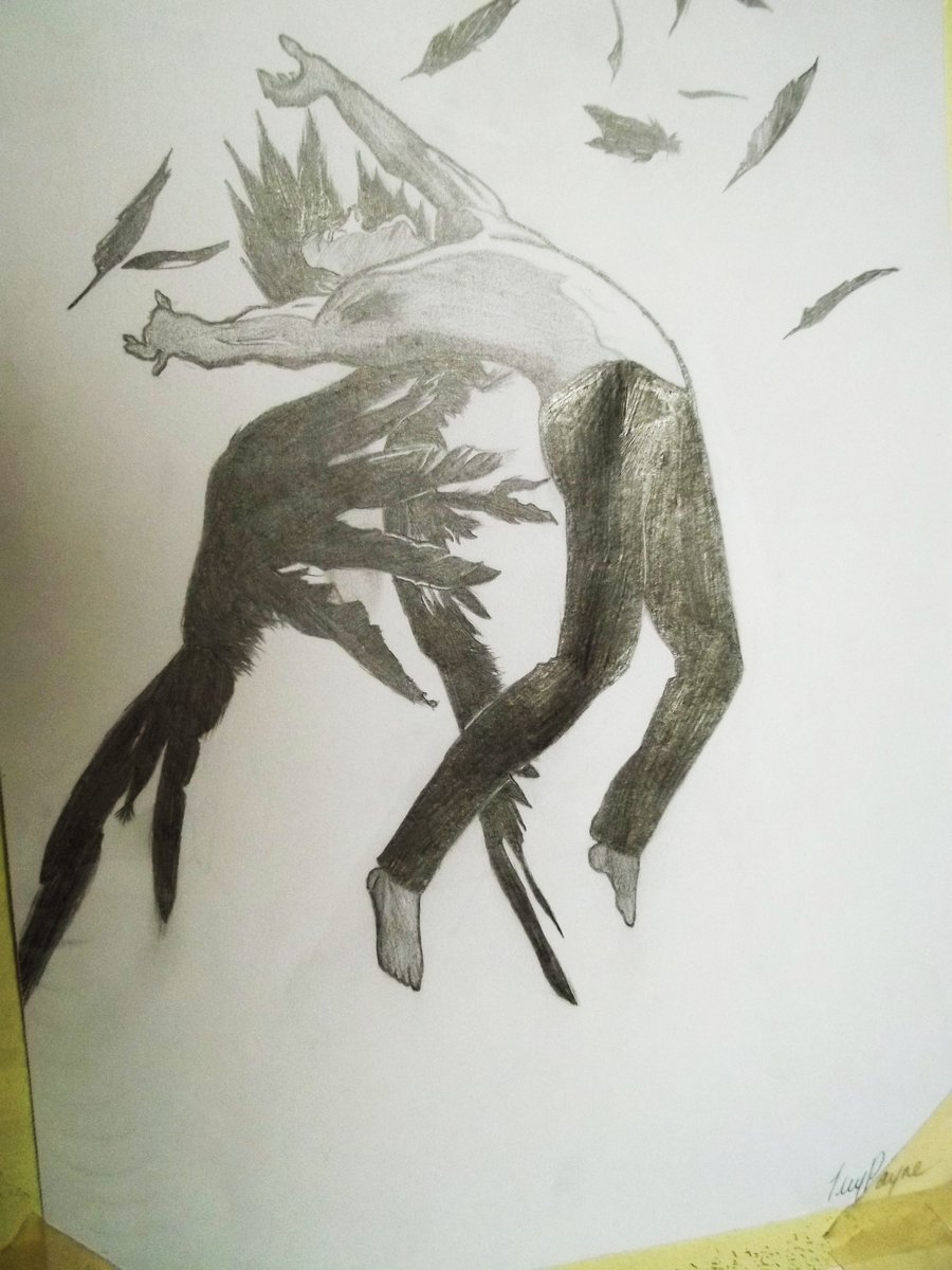 Drawn angel guy Hush Angel DeviantArt (Hush by